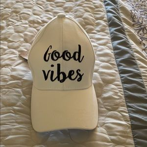 Adjustable brand new good vibes hat